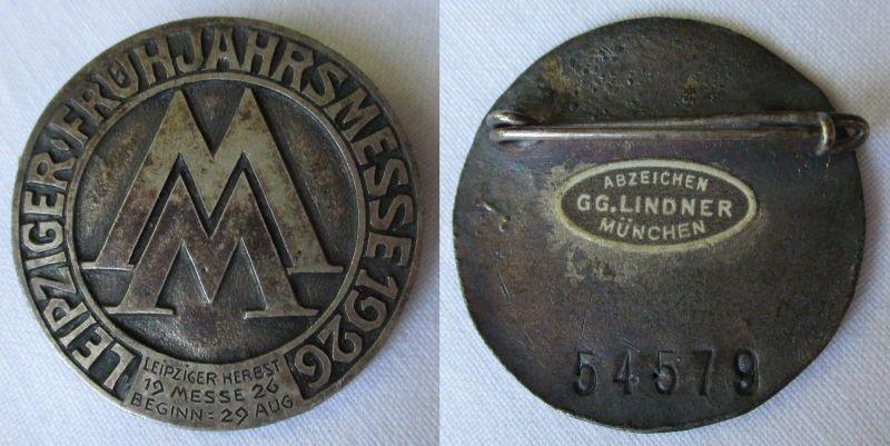 Abzeichen Leipziger Frühjahrsmesse 1926 Einkäufer & Ausstellerabzeichen (117884)