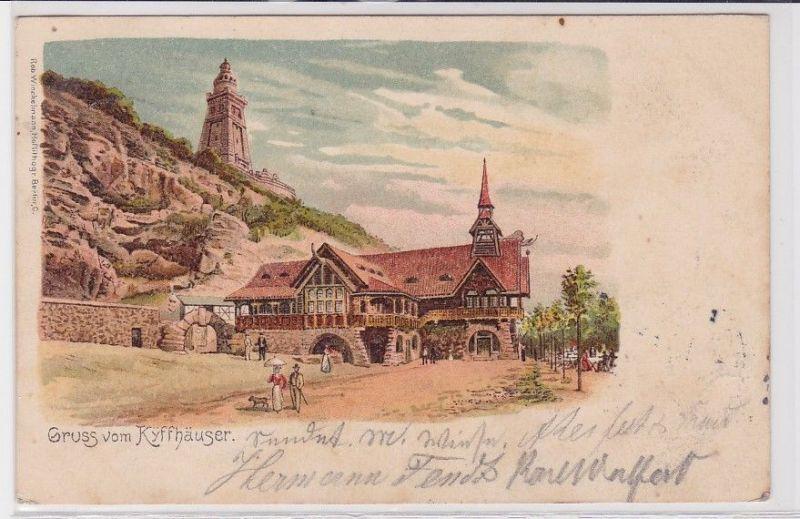 85378 AK Gruss vom Kyffhäuser - Blick auf das Denkmal vom Tal aus gesehen 1903