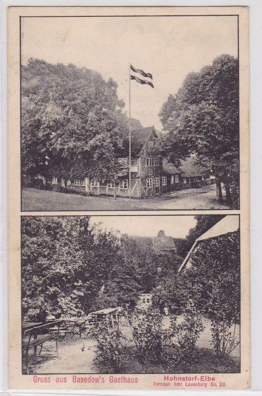 88962 AK Gruss aus Bassedow's Gasthaus - Hohnstorf-Elbe 1912 0