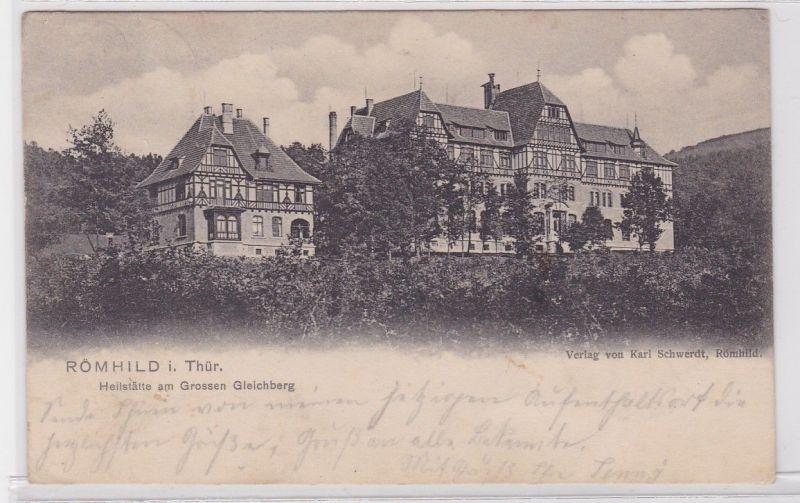75080 AK Römhild in Thüringen - Heilstätt am Grossen Gleichberg 1903 0