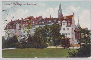 87952 Ak Leipzig alte Häuser am Thomasring 1912