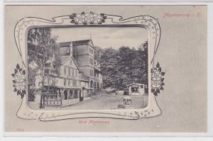 69925 Jugendstil Rahmen AK Mägdesprung im Harz - Hôtel Mägdesprung um 1900
