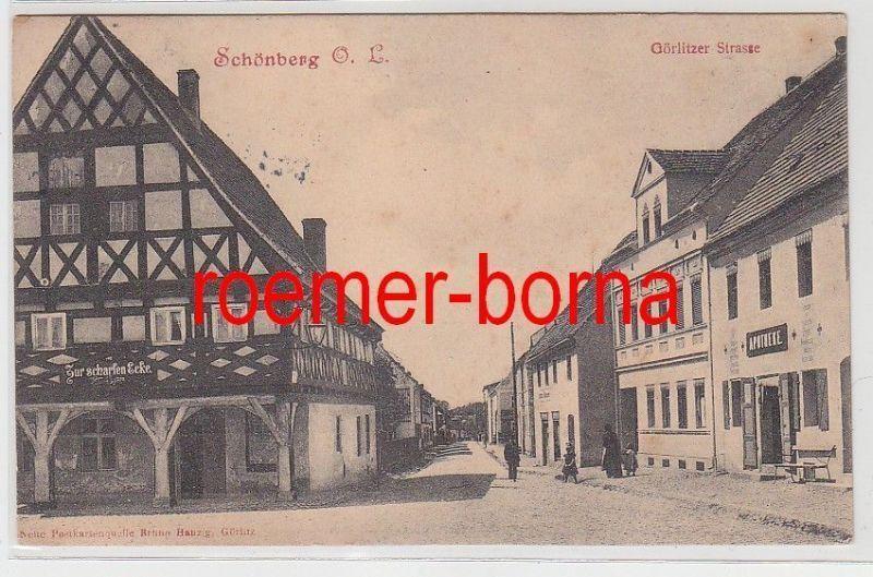 77437 Ak Schönberg O.L. Görlitzer Strasse (Sulików) 1908