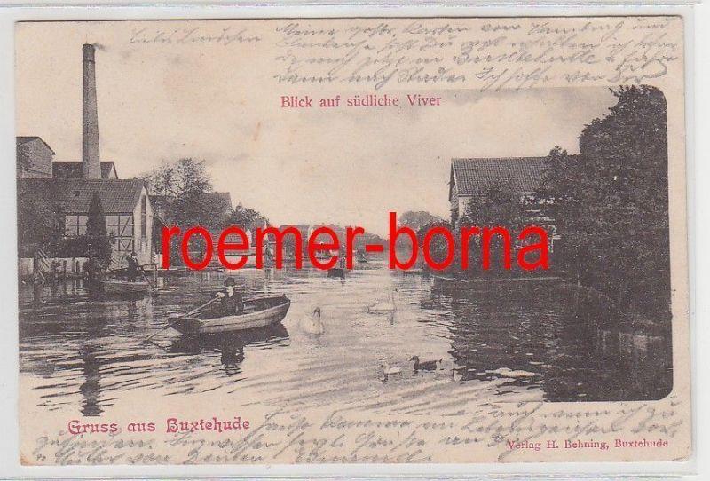 75513 Ak Gruss aus Buxtehude Blick auf südliche Viver 1901