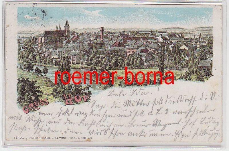 77568 Ak Lithografie Gruss aus Hof 1906