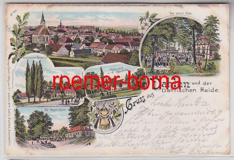 77548 Ak Lithografie Gruss aus Dahlen und der Dahlischen Haide 1901