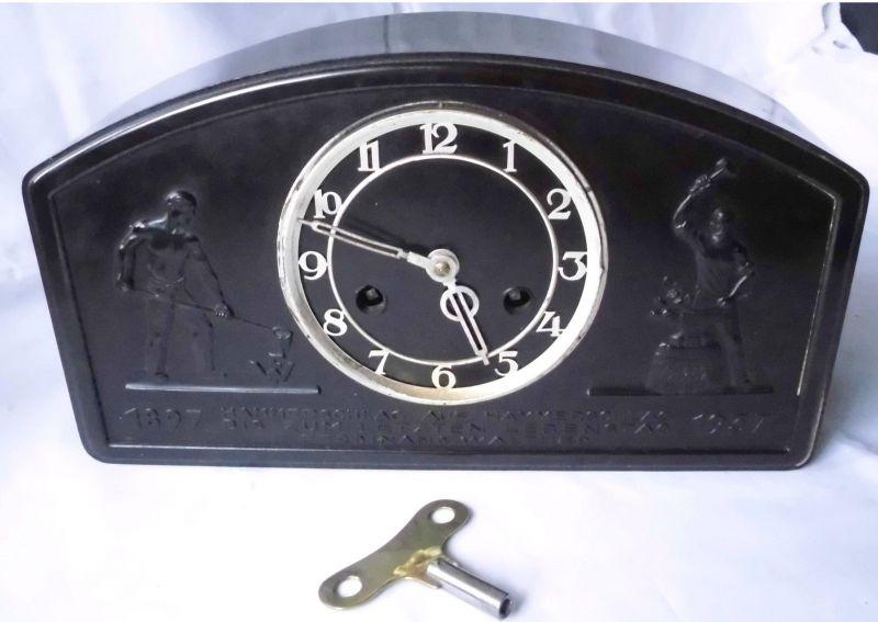 Seltene Jubiläums Uhr Ferdinand Walther Werke Grimma 1897-1937 (113857)