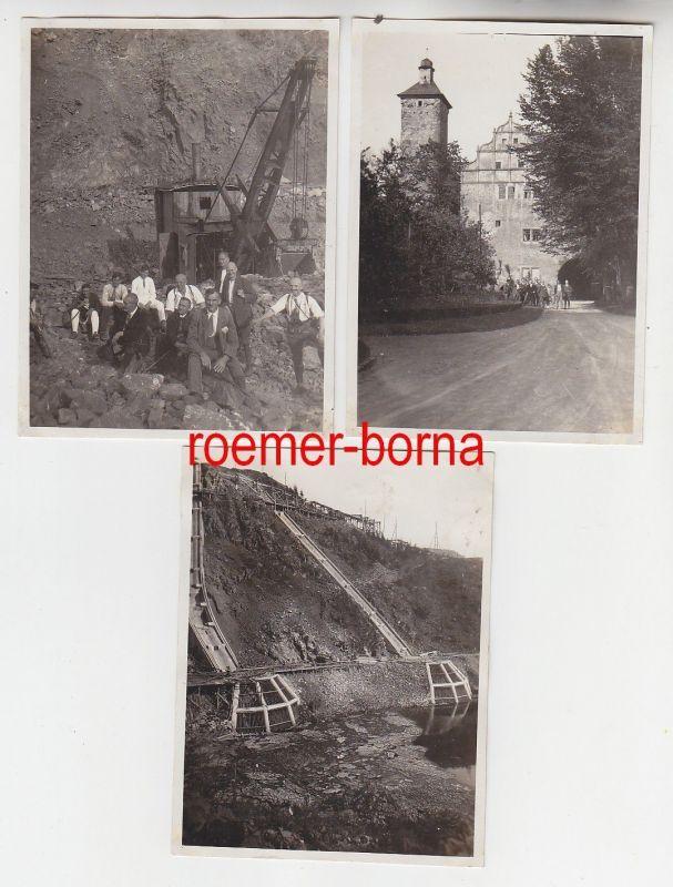 72426 / 3 Fotos Ranis Hohenwarte-Stausee Ringerturnfahrt 1930