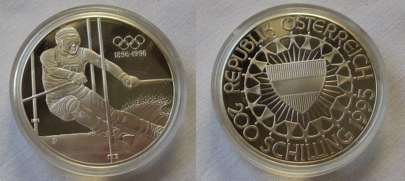 200 Schilling Silber Münze Österreich 1995 olympische Spiele 1896-1996 (104825)