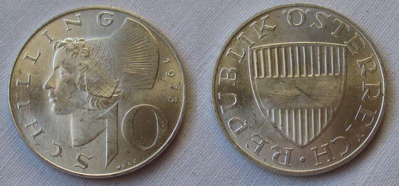 10 Schilling Silber Münze Österreich 1973 (116622)