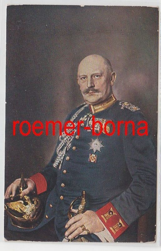 74966 Künstler Ak Generalstabschef von Moltke mit Pickelhaube und Orden um 1910