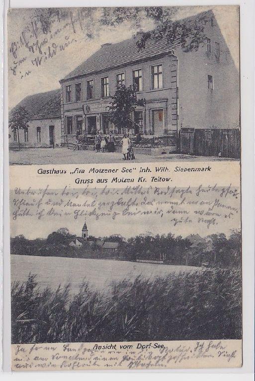88571 Mehrbild Ak Gruß aus Motzen Kreis Teltow Gasthaus 1927