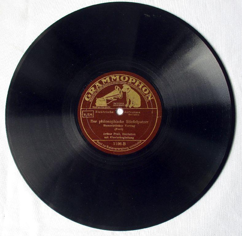 116701 Grammophon Schellackplatte Der philosophische Stiefelputzer um 1930