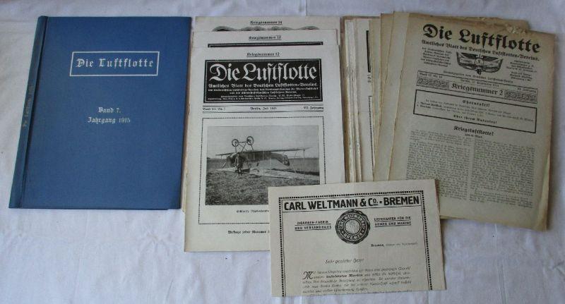 Die Luftflotte, Amtliches Blatt Deutscher Luftflotten-Verein Jahr 1914 (124705)