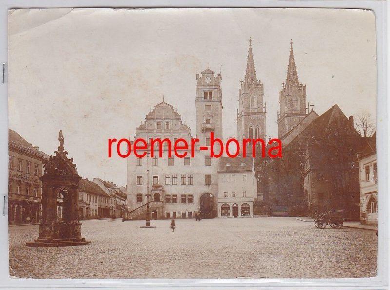 76709 Original Foto Oschatz Marktplatz um 1910