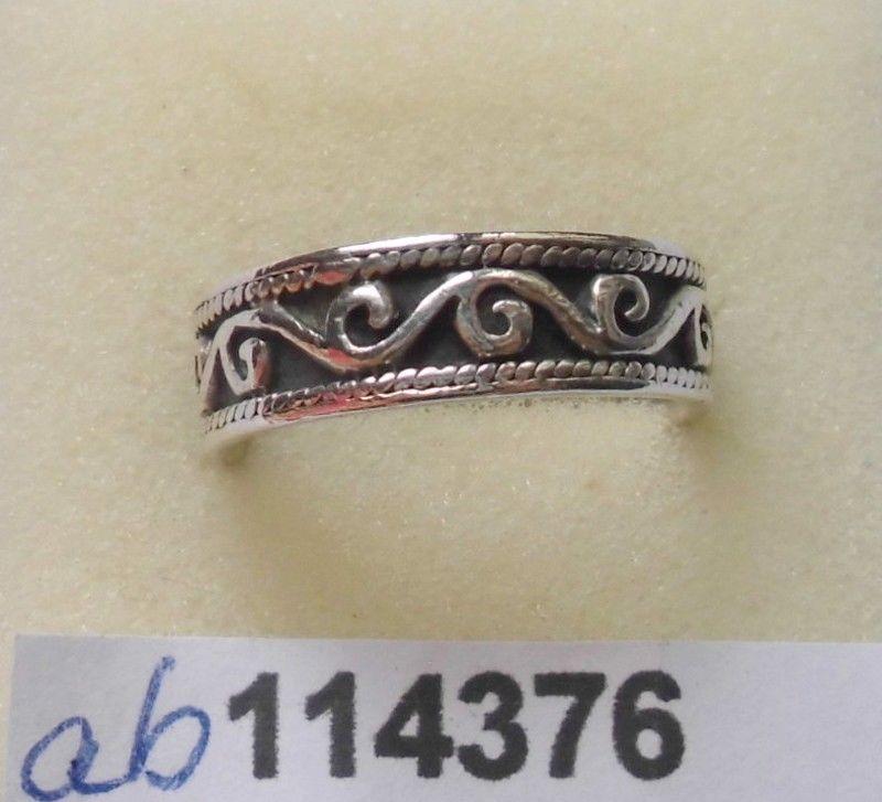 Hübscher Ring 925er Silber mit germanischen Ornamenten (114376)