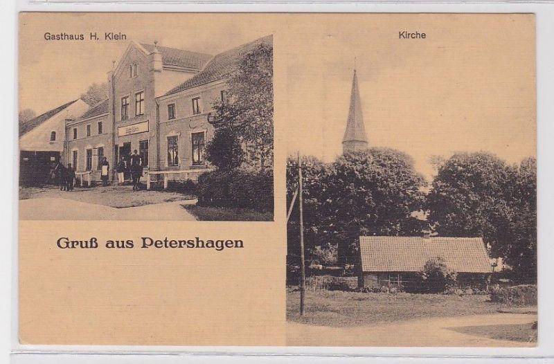 88572 Mehrbild Ak Gruß aus Petershagen in Ostpreussen Gasthaus um 1930