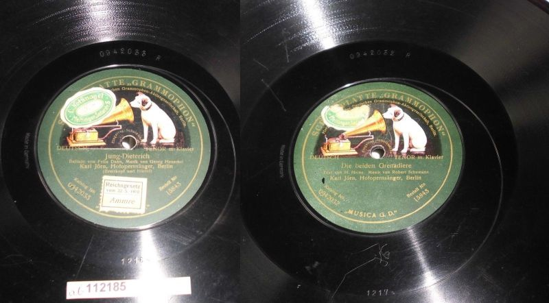 112185 Schellackplatte Grammophon