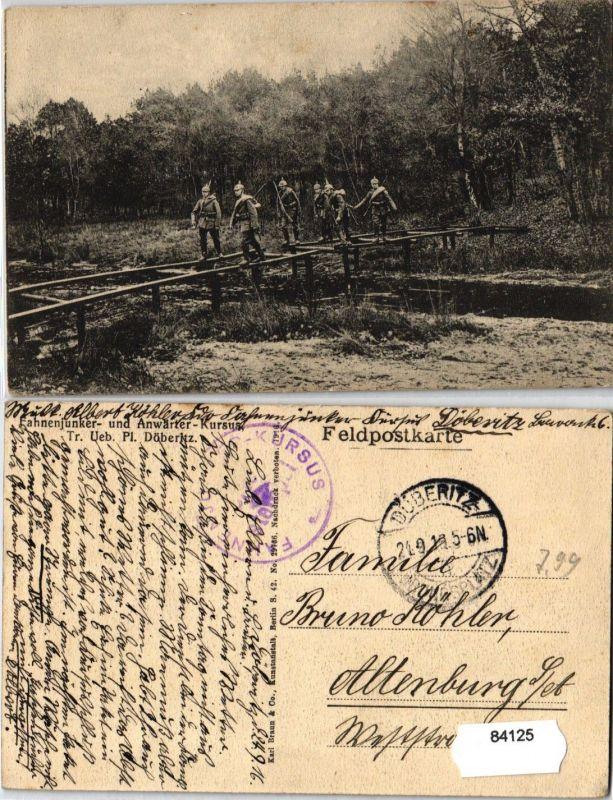 84125 Feldpost AK Fahnenjunker & Anwärter Kursus Truppenübungsplatz Döberitz '16