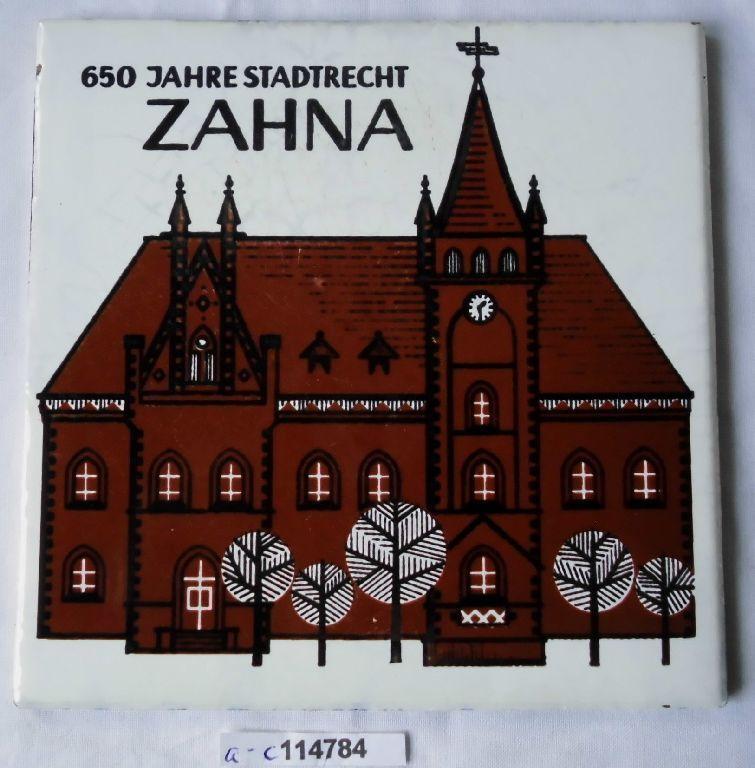 Alte Fliese Meissen 650 Jahre Stadtrecht Zahna  (114784)