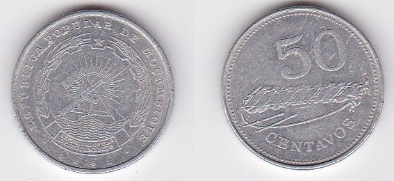 50 Centavos Aluminium Münze Mosambik Moçambique 1982 (122881)