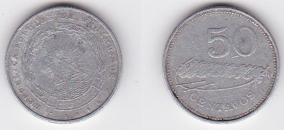 50 Centavos Aluminium Münze Mosambik Moçambique 1980 (122674)