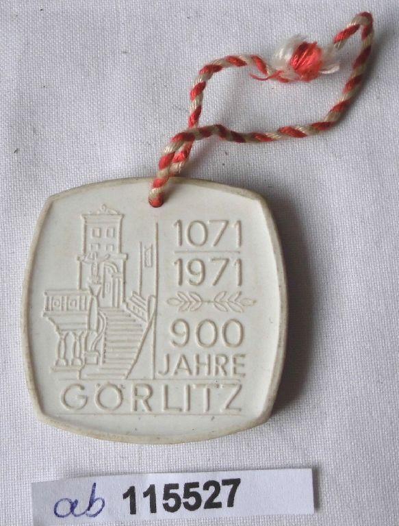 DDR Porzellan Medaille 900 Jahre Görlitz 1071-1971 (115527)