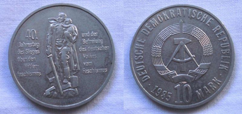 DDR Gedenk Münze 10 Mark 40 Jahre Kriegsende 1985 (117781)
