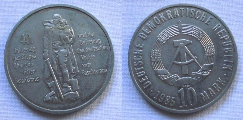 DDR Gedenk Münze 10 Mark 40 Jahre Kriegsende 1985 (115535)