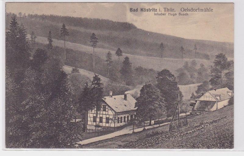 72745 Ak Bad Köstritz in Thüringen Oelsdorfmühle 1911