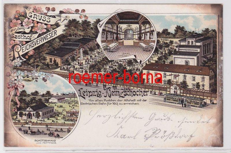 86996 Ak Lithographie Gruß aus dem Gasthof Reichsverweser Leipzig Kleinzschocher