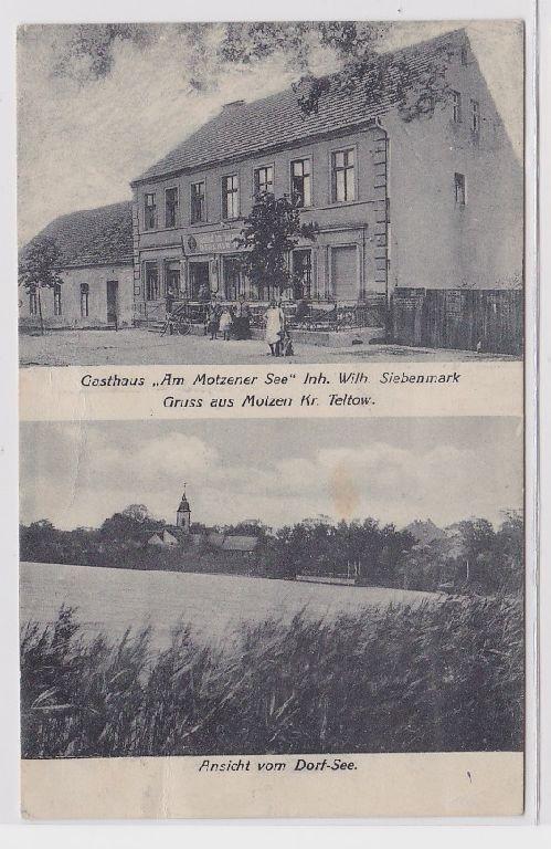 88573 Mehrbild Ak Gruß aus Motzen Kreis Teltow Gasthaus um 1910 0
