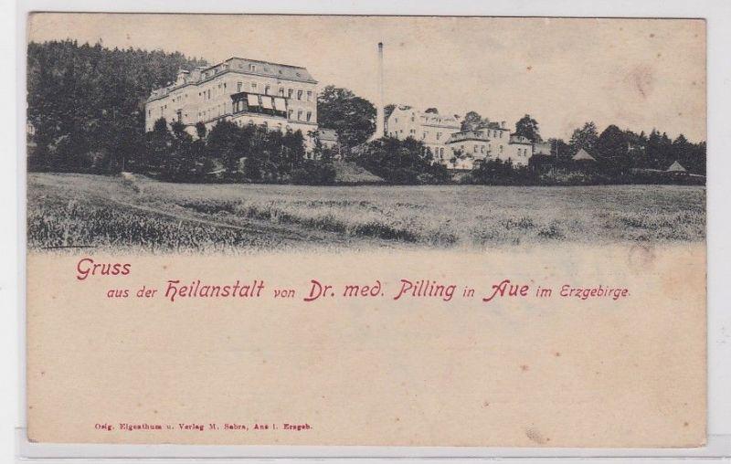 89034 AK Gruss aus der Heilanstalt von Dr. med. Pilling in Aue im Erzgebirge