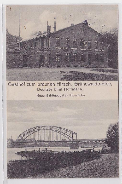 88570 Mehrbild Ak Grünewalde Elbe Gasthof zum braunen Hirsch 1912