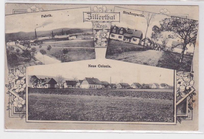 23585 Mehrbild Ak Zillerthal im Riesengebirge Fabrik, neue Kolonie 1914