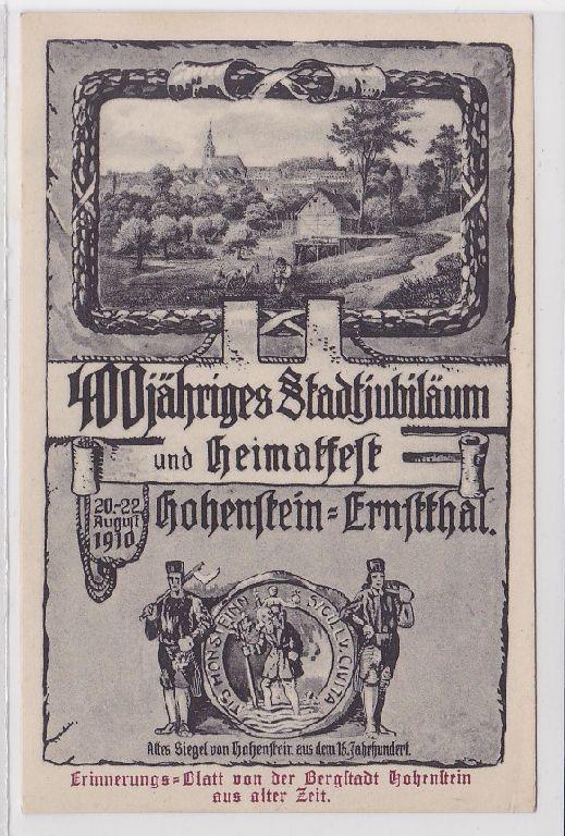 47050 Mehrbild Ak Heimatfest Hohenstein Ernstthal 1910