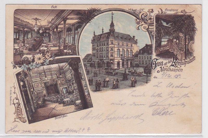 46863 Mehrbild Ak Gruß aus dem Krystallpalaste in Nordhausen 1905
