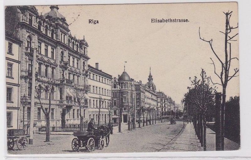 89179 Feldpost Ak Riga Lettland Elisabethstrasse 1918