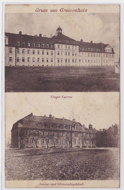 88568 Mehrbild Ak Gruß aus Grossenhain Fliegerkaserne 1915