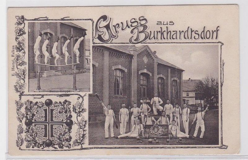 88566 Mehrbild Ak Gruß aus Burkhardtsdorf Turnverein um 1910