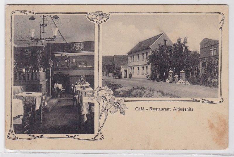 82529 Mehrbild Ak Altjessnitz Café Restaurant 1910