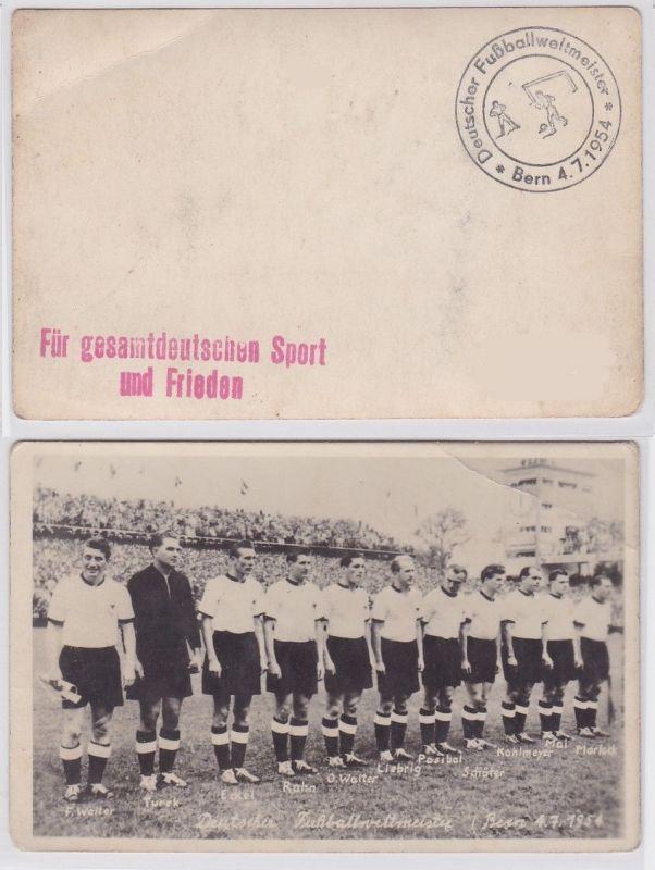 90098 Foto Deutsche Fussballweltmeister Bern 4.7.1954