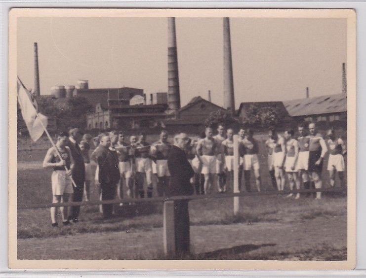 89755 Foto BSG Stötteritz (Leipzig) Fussballmannschaft um 1950