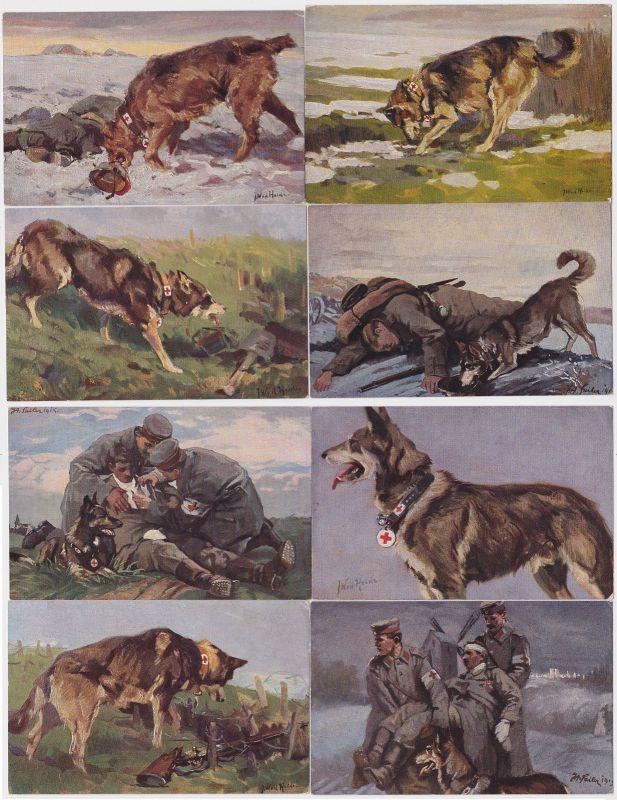 75591/8 Patriotika Ak Wohlfahrtsserie Rotes Kreuz um 1916