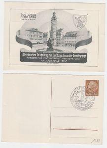 66995 Ak Ganzsache 700 Jahre Gera 1. Briefmarken-Ausstellung 1937 Marktplatz