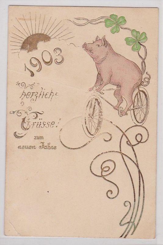 88531 Glückwunsch AK Herzliche Grüsse zum neuen Jahre 1903 ...