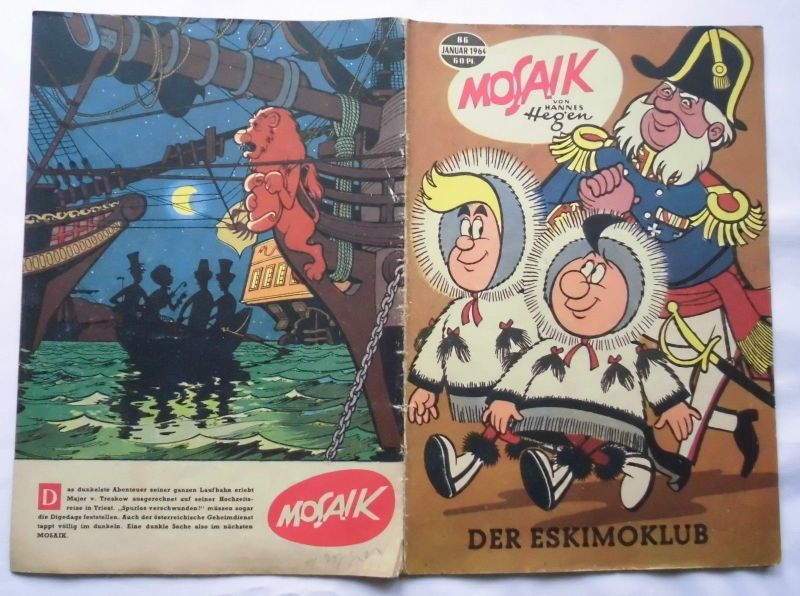 Mosaik von Hannes Hegen Digedag Nummer 86 von 1964 (120310)