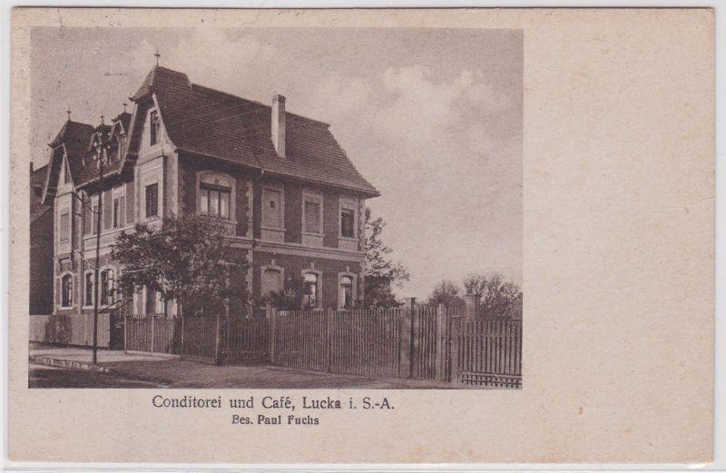 82147 Ak Lucka S.-A. Conditorei und Café 1921