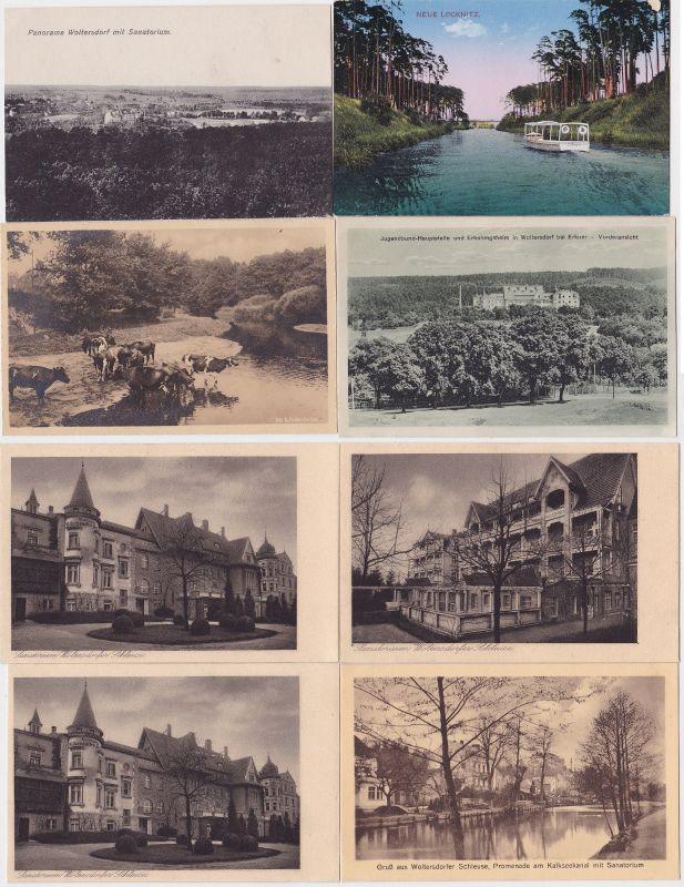 84066/8 Ak Woltersdorfer Schleuse bei Erkner Ortsansichten um 1910