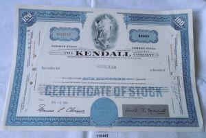100 Dollar Aktie USA The Kendall Company Massachusetts 2.April 1964